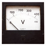 Voltmeter isolated on white Royalty Free Stock Photography