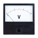 Voltmeter. Isolated on white background royalty free stock image