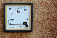 Voltmeter. Not have power at my home stock photos