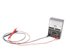 Voltmeter. Old style voltmeter with white background stock photography