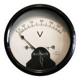 Voltmeter. Vintage Voltmeter to measure the Energy royalty free stock photo
