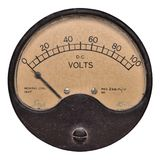 Voltometro 100v del 1947 Immagini Stock Libere da Diritti