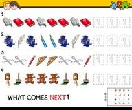 Voltooi het patroon met objecten spel Stock Afbeelding
