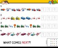 Voltooi het patroon met voertuigenspel Stock Foto