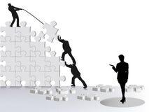 Voltooiing van bedrijfssucces Stock Afbeelding