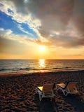 Voltooiing van het toeristenseizoen in het Middellandse-Zeegebied stock fotografie