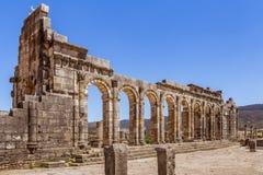 Volubilis站点在摩洛哥 图库摄影