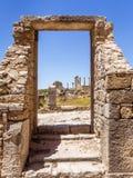 Volubilis站点在摩洛哥 免版税库存照片