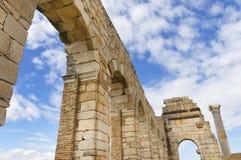 Volubilis罗马帝国废墟  免版税库存图片