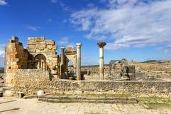 Volubilis罗马帝国废墟  免版税图库摄影