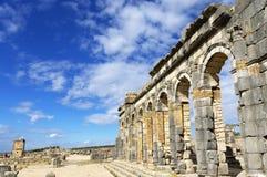 Volubilis罗马帝国废墟  免版税库存照片