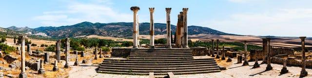 Volubilis, Марокко - touristic привлекательность и римские археологические раскопки Стоковые Фото