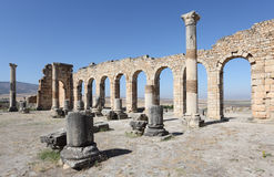 Volubilis - римские руины в Марокко Стоковое Изображение RF