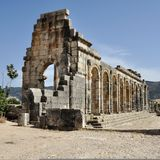 Volubilis Capitol, Morocco Stock Images