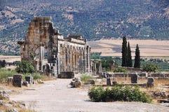 Volubilis Kapitolium Arkivbilder