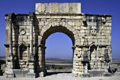 Volubilis, Marokko Stockfoto