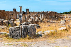 Volubilis, Morocco - touristic attraction and a Roman archaeological site Stock Images