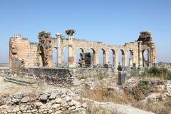 Volubilis - Roman basilica ruins Stock Image