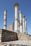 Volubilis - Roman basilica ruins Royalty Free Stock Photography