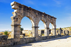 Volubilis - Roman basilica ruins in Morocco, Royalty Free Stock Photo