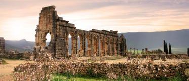 Volubilis in Morocco. Volubilis, Roman city of antiquity in Morocco royalty free stock photo