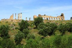 Volubilis. Is a Roman city in Morocco situated near Meknes Royalty Free Stock Photography
