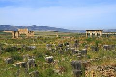 Volubilis. Is a Roman city in Morocco situated near Meknes Royalty Free Stock Photo