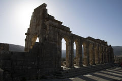Volubilis Roman empire city in Morocco, Africa. Volubilis (Berber: Walili, Arabic: وليلي‎‎) is a partly excavated Berber and Roman city in Morocco Royalty Free Stock Photo