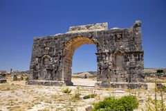 Volubilis - ruins of historical city from age of roman , Morocco Royalty Free Stock Image