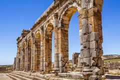 The Volubilis site in Morocco Stock Photo