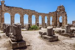 The Volubilis site in Morocco Stock Image