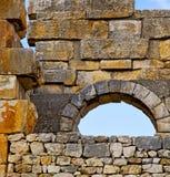 Volubilis w Morocco Africa stary rzymski marniejący zabytek Zdjęcia Stock