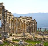 Volubilis w Morocco Africa stary rzymski marniejący zabytek Obrazy Stock