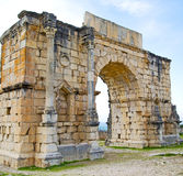 Volubilis w Morocco Africa stary rzymski marniejący zabytek Obrazy Royalty Free