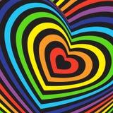 Volumétrico tridimensional do cartão do dia de Valentim Fotos de Stock