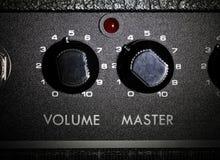 Volum e mestre dos potis do amplificador Foto de Stock