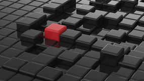 Volume abstract background illustration. Abstract background black and Red cubes Royalty Free Stock Images