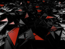 Volume abstract background illustration. Abstract background from black and red triangles Stock Photos