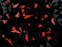 Volume abstract background illustration. Abstract background from black and red triangles Stock Image