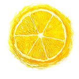 Volume abstract lemons. Made with paints massive strokes. contrast and bright Stock Photos