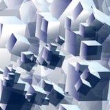 Volume abstrato do cubo do fundo Fotos de Stock