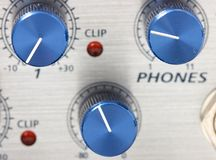 Volume adjustment knobs Stock Photos