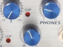 Volume adjustment knobs Stock Photos