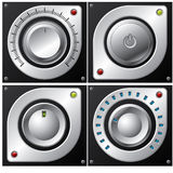 Volume, amplifier and button design Royalty Free Stock Image