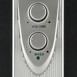 Volume and bass speaker. Controls closeup royalty free stock photo