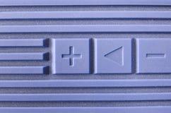 Volume bleu photo stock