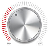 Volume Button Knob, Vector Illustration. Stock Image