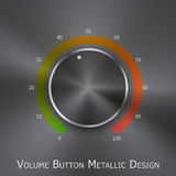 Volume button (music knob) with metal texture Royalty Free Stock Photography