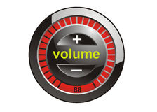 Volume console. Illustration of volume control console Stock Photography