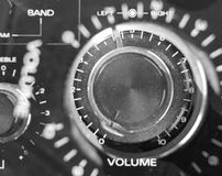 Volume control. On old ghetto blaster stock images